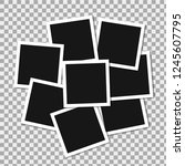set of square vector photo... | Shutterstock .eps vector #1245607795