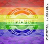 free membership lgbt colors... | Shutterstock .eps vector #1245611872