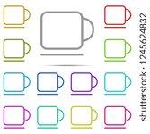 a cup icon in multi color....