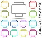 printer icon in multi color....