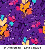 abstract seamless pattern with... | Shutterstock .eps vector #1245650395
