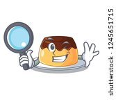 detective chocolate mousse with ... | Shutterstock .eps vector #1245651715