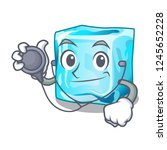 doctor ice cubes shape on the... | Shutterstock .eps vector #1245652228