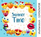 summer time poster or postcard  ...   Shutterstock .eps vector #1245656938