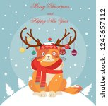 happy new year greeting card... | Shutterstock .eps vector #1245657112