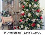 farmhouse style christmas... | Shutterstock . vector #1245662902