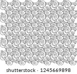twirling  ornamental abstract... | Shutterstock .eps vector #1245669898