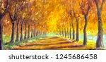 Autumn Landscape Oil Painting   ...