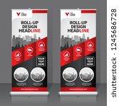 roll up banner design template  ... | Shutterstock .eps vector #1245686728