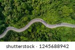 aerial view road curve... | Shutterstock . vector #1245688942