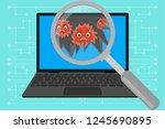 virus computer destroying... | Shutterstock .eps vector #1245690895