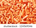 sliced carrot for texture or background - stock photo