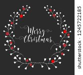 christmas card. hand drawn... | Shutterstock .eps vector #1245722185