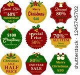 collection of christmas labels. ... | Shutterstock .eps vector #1245745702