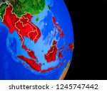 asean memeber states on... | Shutterstock . vector #1245747442