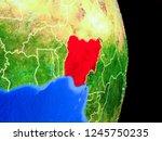 nigeria on realistic model of... | Shutterstock . vector #1245750235