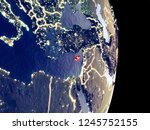 satellite view of cyprus at... | Shutterstock . vector #1245752155