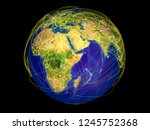 horn of africa from space on... | Shutterstock . vector #1245752368