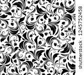 vector seamless black and white ... | Shutterstock .eps vector #1245752458