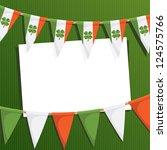 irish st patricks day party... | Shutterstock .eps vector #124575766
