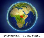 south sudan from space on... | Shutterstock . vector #1245759052