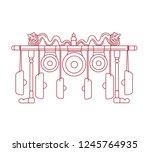 indonesian metallophones ...   Shutterstock .eps vector #1245764935