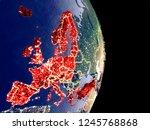 satellite view of oecd european ... | Shutterstock . vector #1245768868