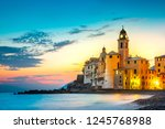 sunset on the sea  camogli ... | Shutterstock . vector #1245768988