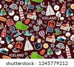 vector flat seamless texture... | Shutterstock .eps vector #1245779212