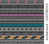 abstract seamless ethnic... | Shutterstock .eps vector #1245782515