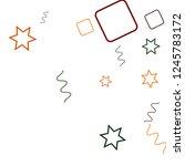 geometric memphis background.... | Shutterstock .eps vector #1245783172