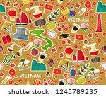 vector flat seamless texture... | Shutterstock .eps vector #1245789235