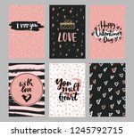 set of valentine's day greeting ... | Shutterstock .eps vector #1245792715