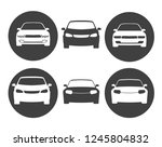 icons in front of the car in... | Shutterstock .eps vector #1245804832