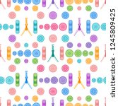 seamless pattern with zipper ... | Shutterstock .eps vector #1245809425