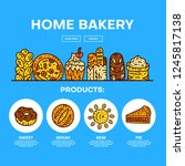 bakery hero image. vector bread ... | Shutterstock .eps vector #1245817138