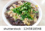 soup with duck blood and bean... | Shutterstock . vector #1245818548