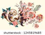 vector vintage victorian... | Shutterstock .eps vector #1245819685