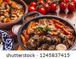 the concept of uzbek  oriental...   Shutterstock . vector #1245837415