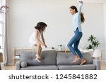 full length positive mother and ... | Shutterstock . vector #1245841882