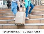 traveller carry baggage    Shutterstock . vector #1245847255