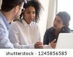 employees with female african... | Shutterstock . vector #1245856585