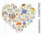 language school for adult  kids.... | Shutterstock .eps vector #1245857962