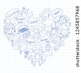language school for adult  kids.... | Shutterstock .eps vector #1245857968