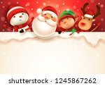 happy christmas companions with ... | Shutterstock . vector #1245867262