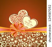 valentine's day greeting card... | Shutterstock .eps vector #124587052