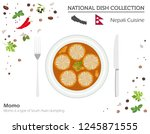 nepali cuisine. asian national... | Shutterstock .eps vector #1245871555