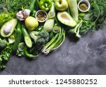 healthy food background.... | Shutterstock . vector #1245880252