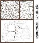 cracked set | Shutterstock .eps vector #124588102