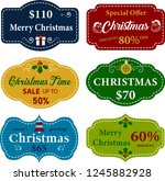 collection of christmas labels. ... | Shutterstock .eps vector #1245882928
